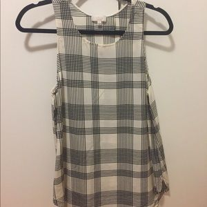 Aritzia Plaid Open-Back Top
